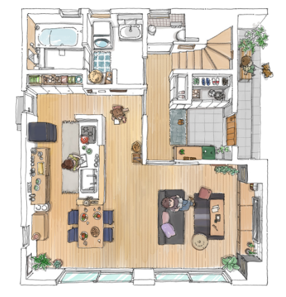 モデルハウス 1F 一階