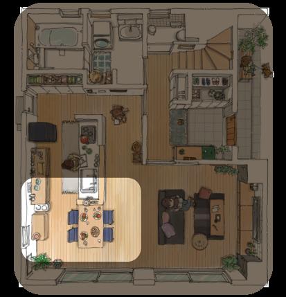 モデルハウス 1F 一階 | ダイニング
