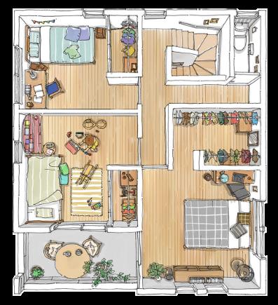 モデルハウス 2F 二階 | 間取り