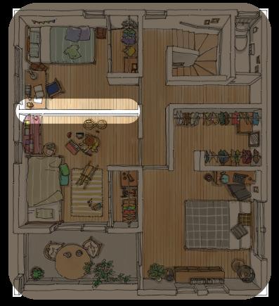 モデルハウス 2F 二階 | 暮らし方に合わせて間仕切りを変更
